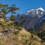 Trekkers climbing the uphill Ganesh Himal and Sringi Himal, and Boudha ranges to Tsum valley on North Nepal's Tsum Valley Trekking 15 Days package