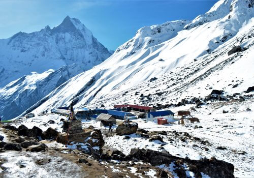 Guest House in Annapurna Base camp at elevation of 4130m