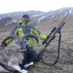Hunter with dead Blue Sheep of Dhorpatan Hunting Region on North Nepal's Dhorpatan Trek with Gurja Khani 10 days package