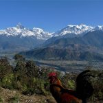 As we can see the stunning view of Machapuchare (Fish Tail), Annapurna III, Annapurna IV, Annapurna II mountains from Sarangkot Hill on North Nepal's Pokhara Sightseeing Tour 1 Day package