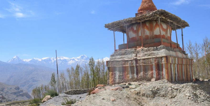 A Gompa in Upper Mustang seen during a trek organized by North Nepal Travels and Treks