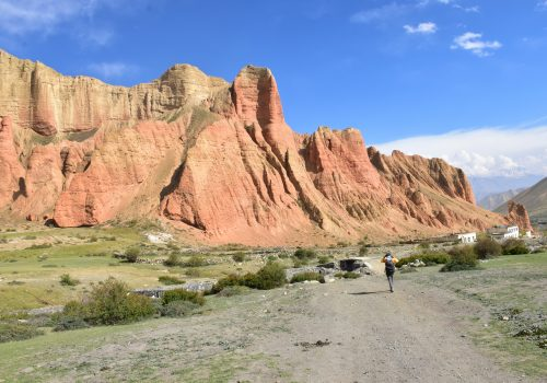 Upper Mustang rocky hills as seen during a trek by North Nepal Travels and Tours