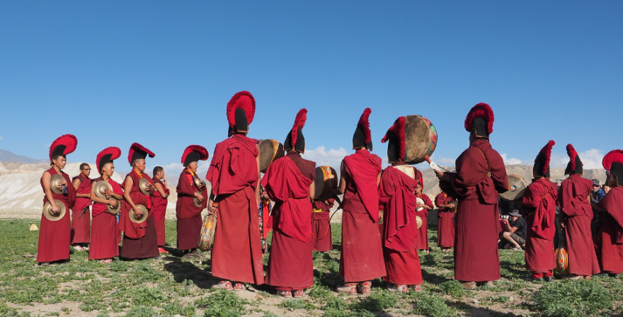 Tiji Festival in Upper Mustang during a trek organized by North Nepal Travels and Treks