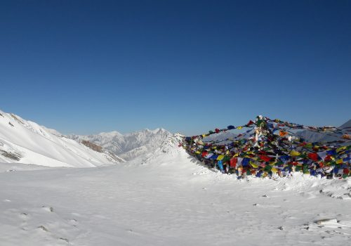 Guide (Yagya) on Thorong La pass 5416m, Highest pass of Annapurna circuit trek