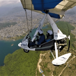Ultralight flying over the Phewa Lake as seen from 15 Minutes ultralight flight on North Nepal's Ultralight package